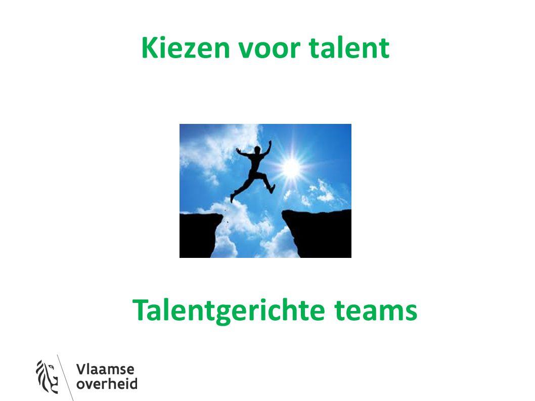 Kiezen voor talent Talentgerichte teams