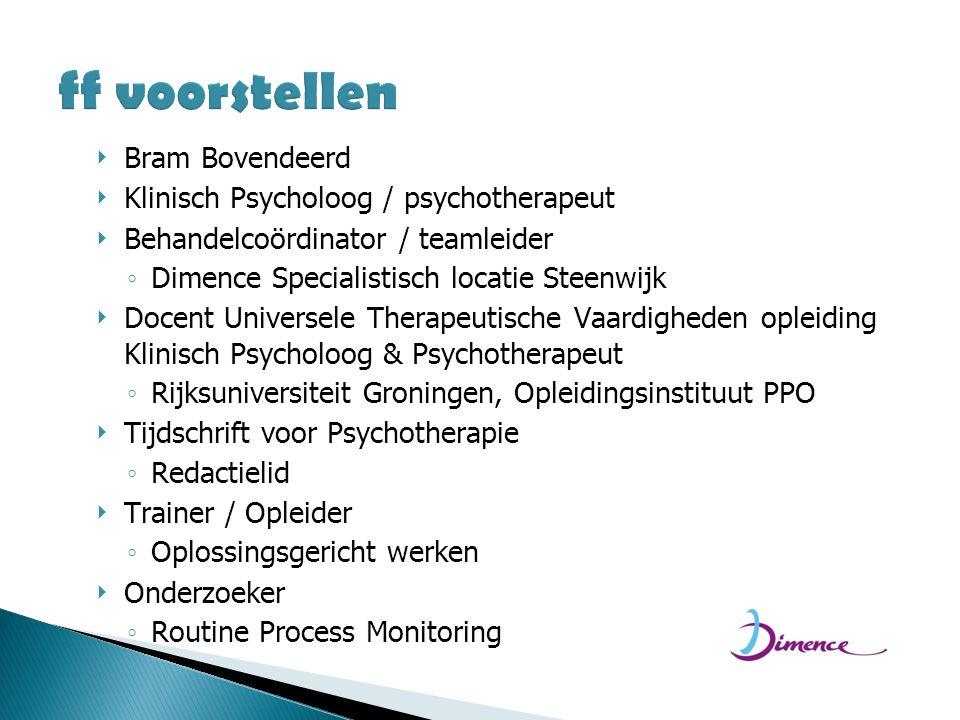 ff voorstellen Bram Bovendeerd Klinisch Psycholoog / psychotherapeut