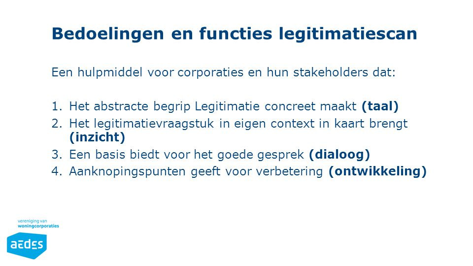 Bedoelingen en functies legitimatiescan