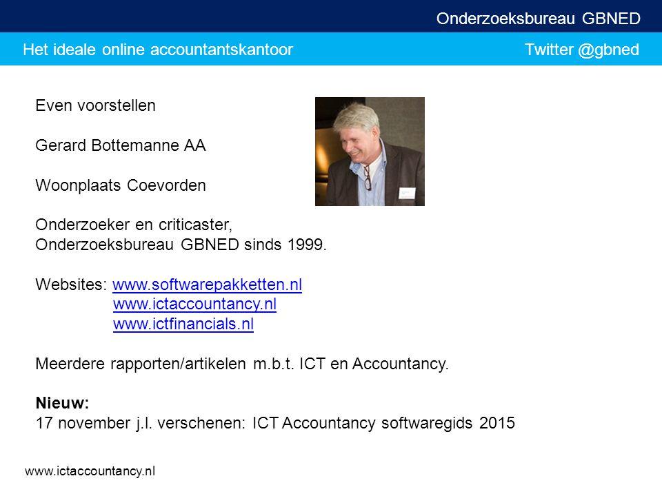 Even voorstellen Gerard Bottemanne AA. Woonplaats Coevorden. Onderzoeker en criticaster, Onderzoeksbureau GBNED sinds 1999.