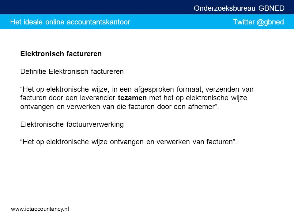 Elektronisch factureren