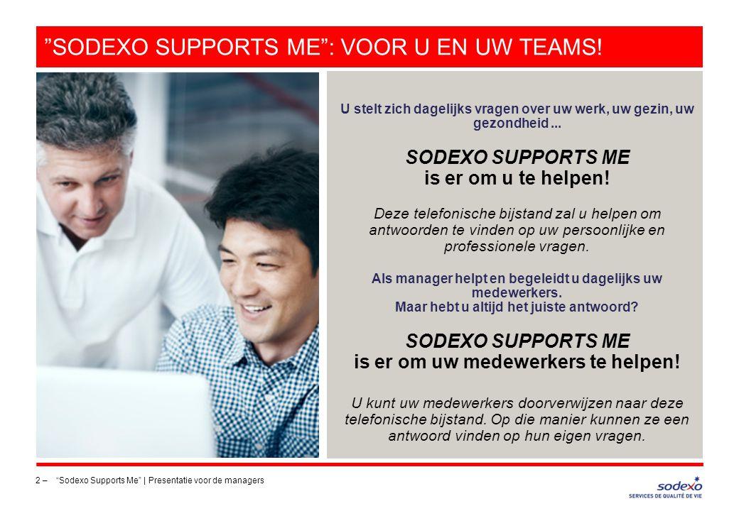 SODEXO SUPPORTS ME : voor u en uw teams!