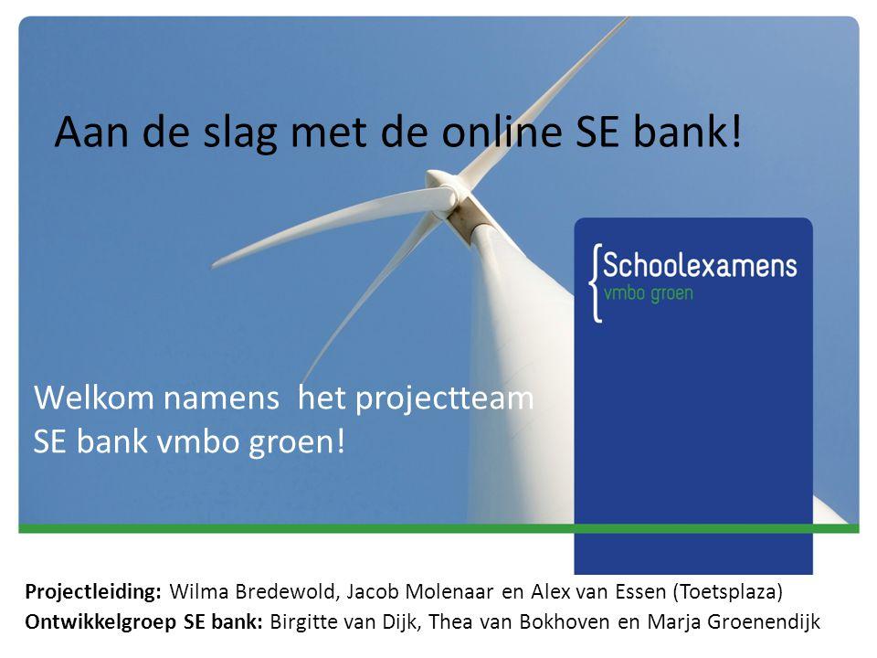 Aan de slag met de online SE bank!