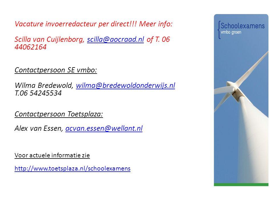 Vacature invoerredacteur per direct!!! Meer info: