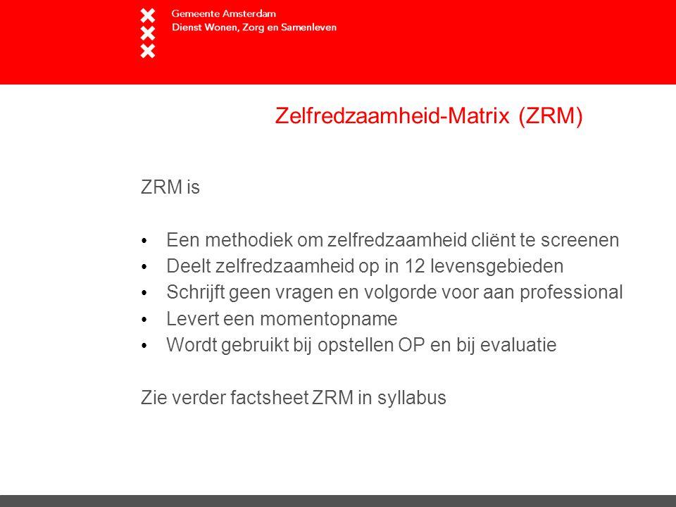 Zelfredzaamheid-Matrix (ZRM)