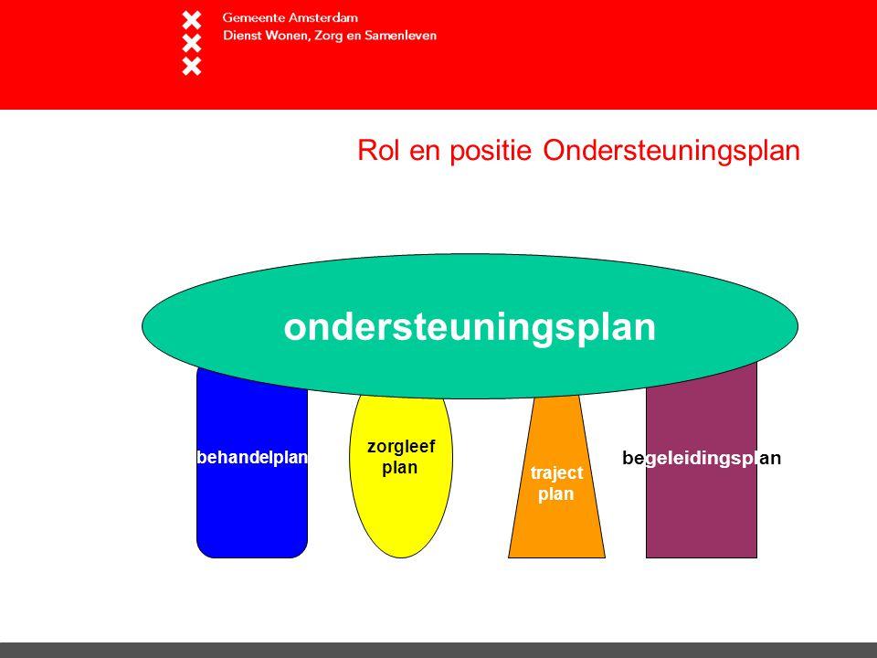Rol en positie Ondersteuningsplan