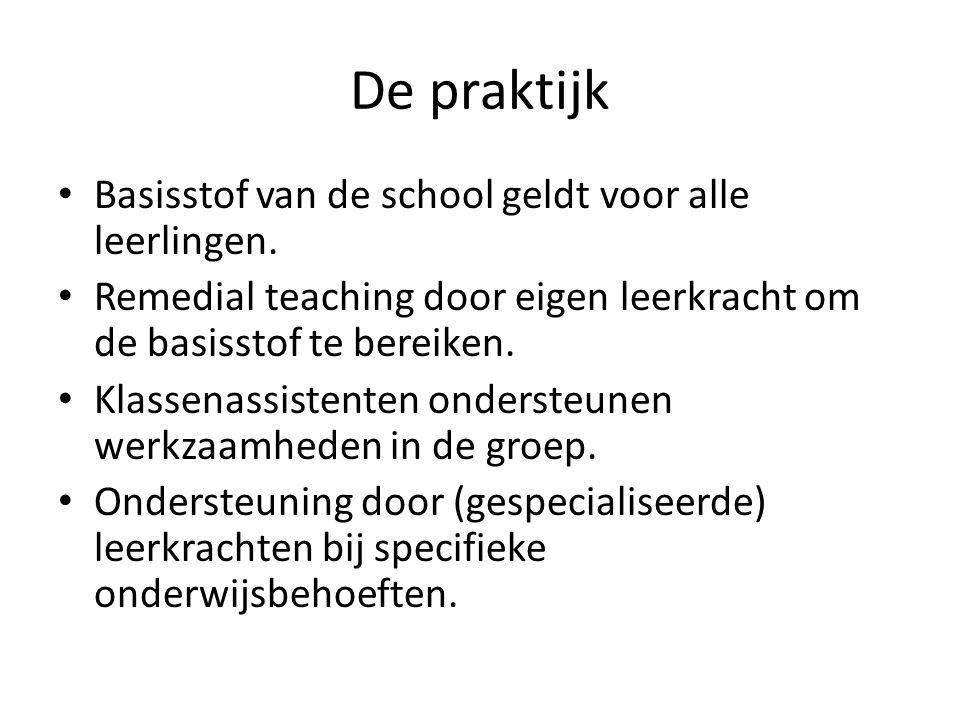 De praktijk Basisstof van de school geldt voor alle leerlingen.