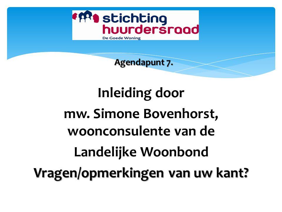 mw. Simone Bovenhorst, woonconsulente van de Landelijke Woonbond