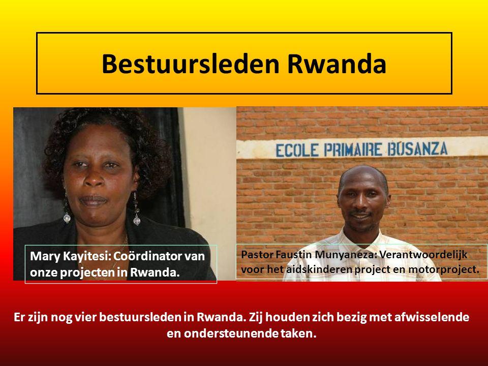 Bestuursleden Rwanda Mary Kayitesi: Coördinator van onze projecten in Rwanda.