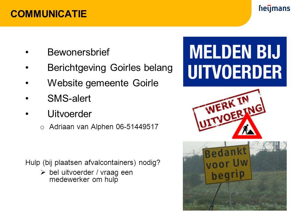 Berichtgeving Goirles belang Website gemeente Goirle SMS-alert