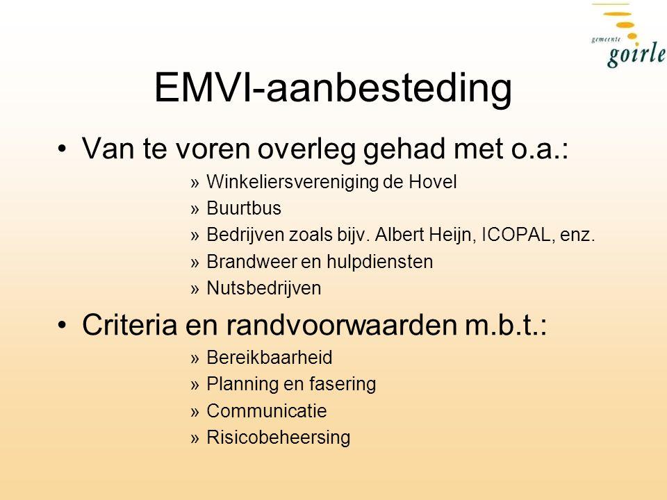 EMVI-aanbesteding Van te voren overleg gehad met o.a.: