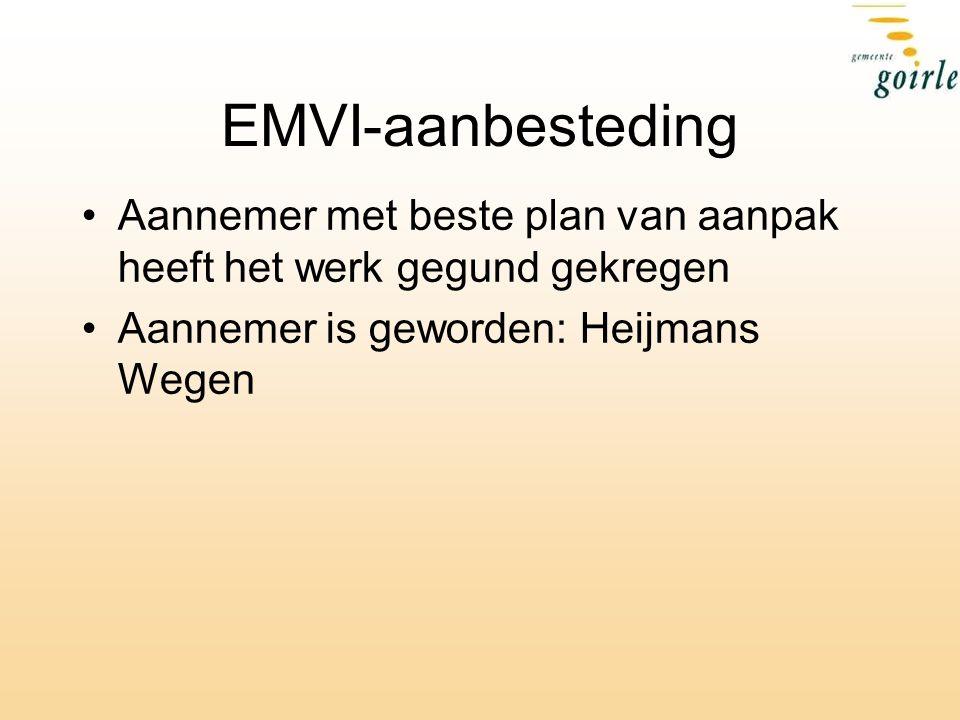 EMVI-aanbesteding Aannemer met beste plan van aanpak heeft het werk gegund gekregen.
