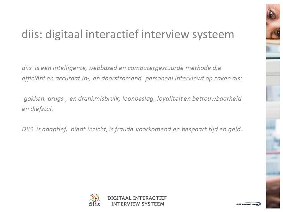 diis: digitaal interactief interview systeem