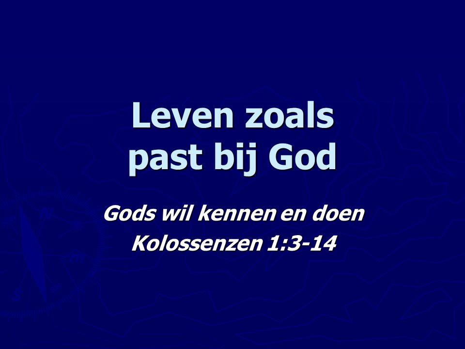 Leven zoals past bij God