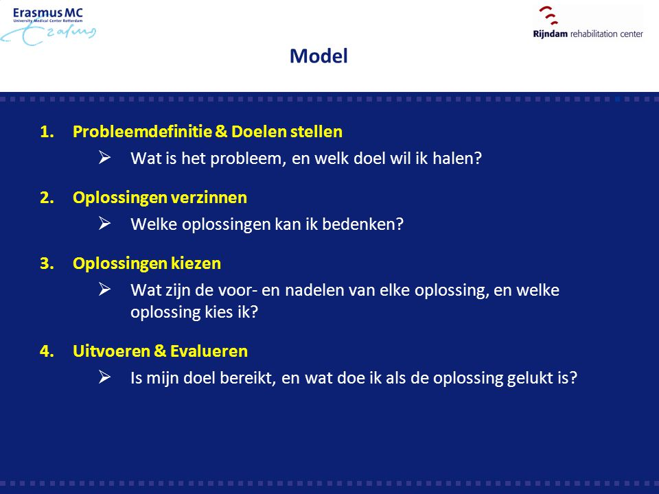 Model Probleemdefinitie & Doelen stellen