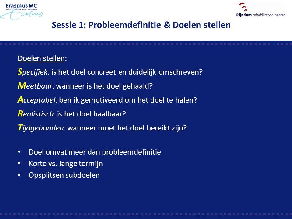 Sessie 1: Probleemdefinitie & Doelen stellen