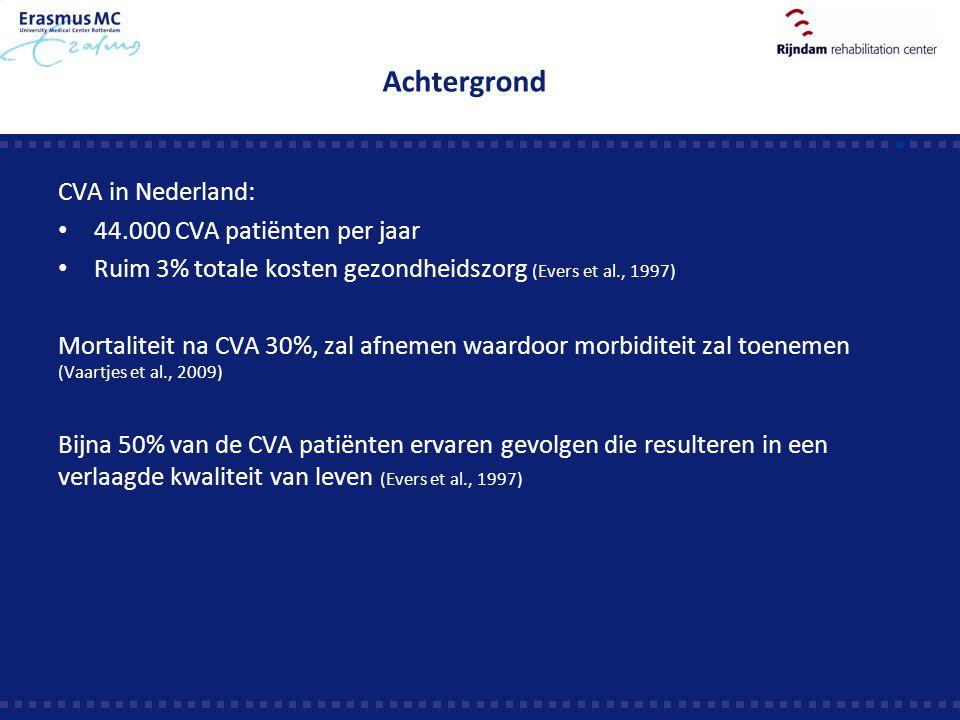 Achtergrond CVA in Nederland: 44.000 CVA patiënten per jaar