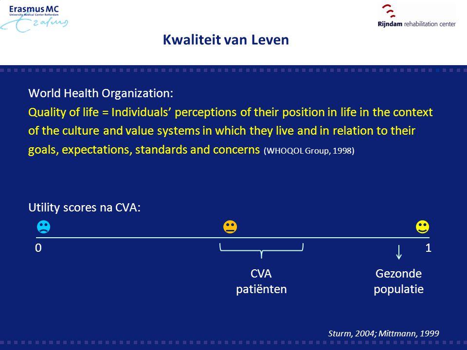 Kwaliteit van Leven World Health Organization:
