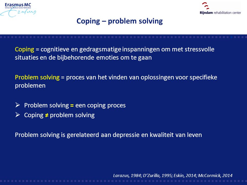 Coping – problem solving