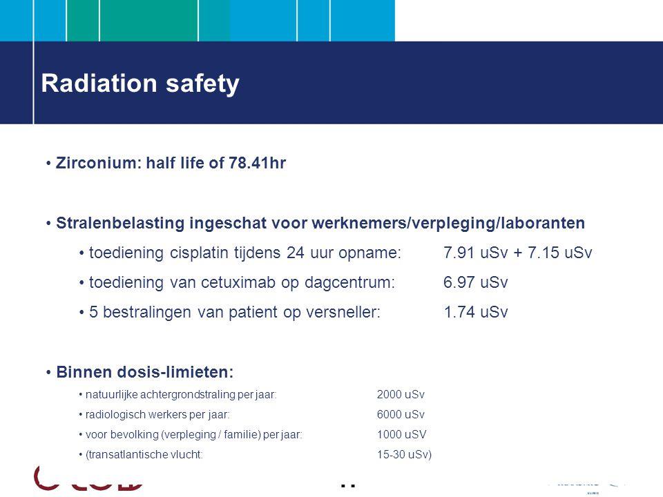 Radiation safety Zirconium: half life of 78.41hr