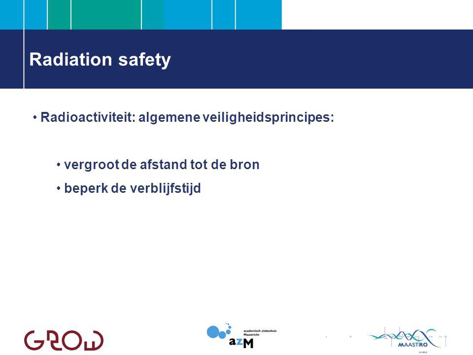 Radiation safety Radioactiviteit: algemene veiligheidsprincipes: