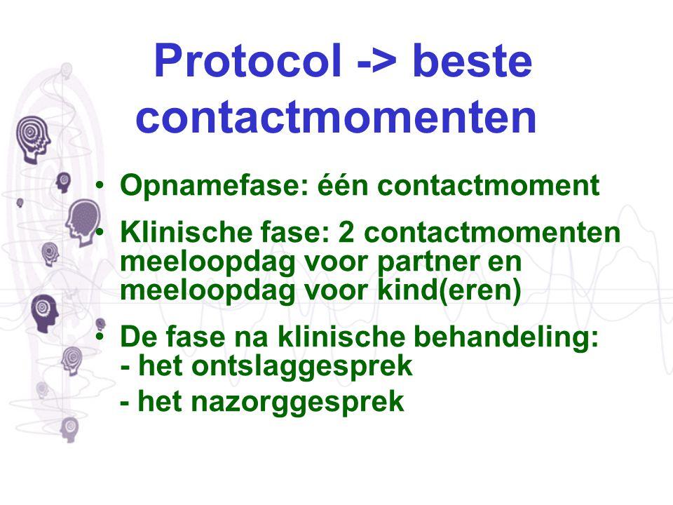 Protocol -> beste contactmomenten