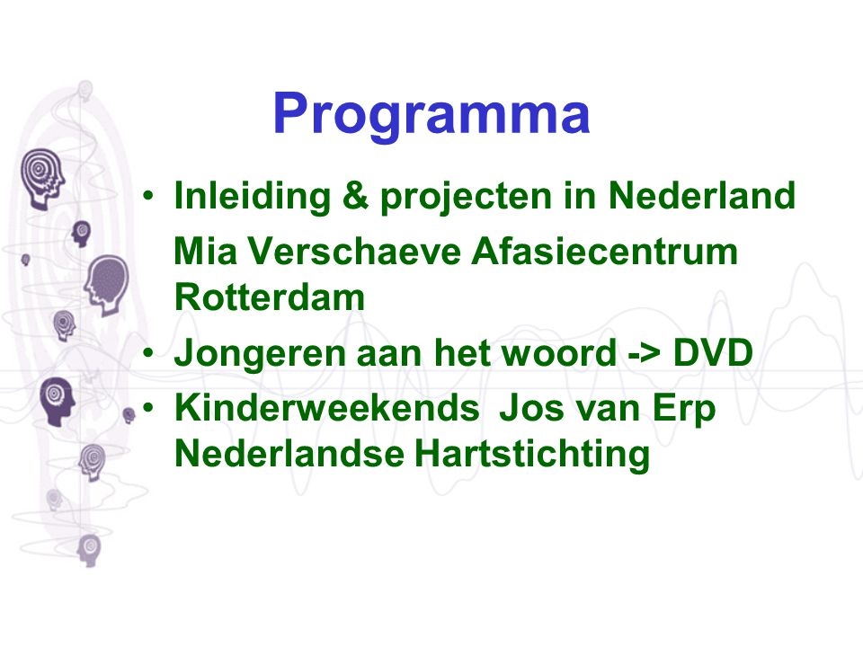 Programma Inleiding & projecten in Nederland
