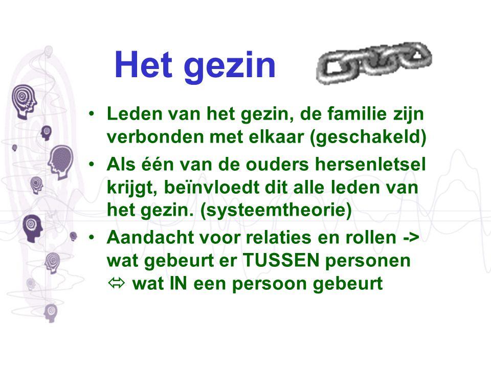 Het gezin Leden van het gezin, de familie zijn verbonden met elkaar (geschakeld)