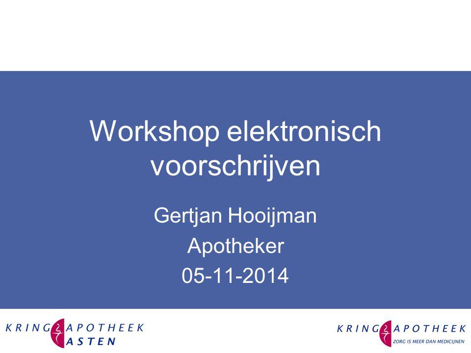 Workshop elektronisch voorschrijven