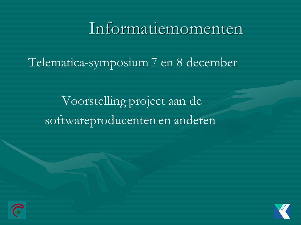 Informatiemomenten Telematica-symposium 7 en 8 december