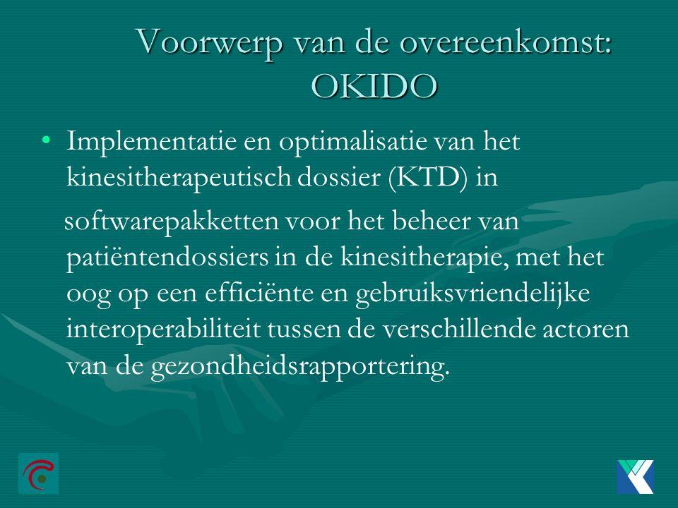 Voorwerp van de overeenkomst: OKIDO