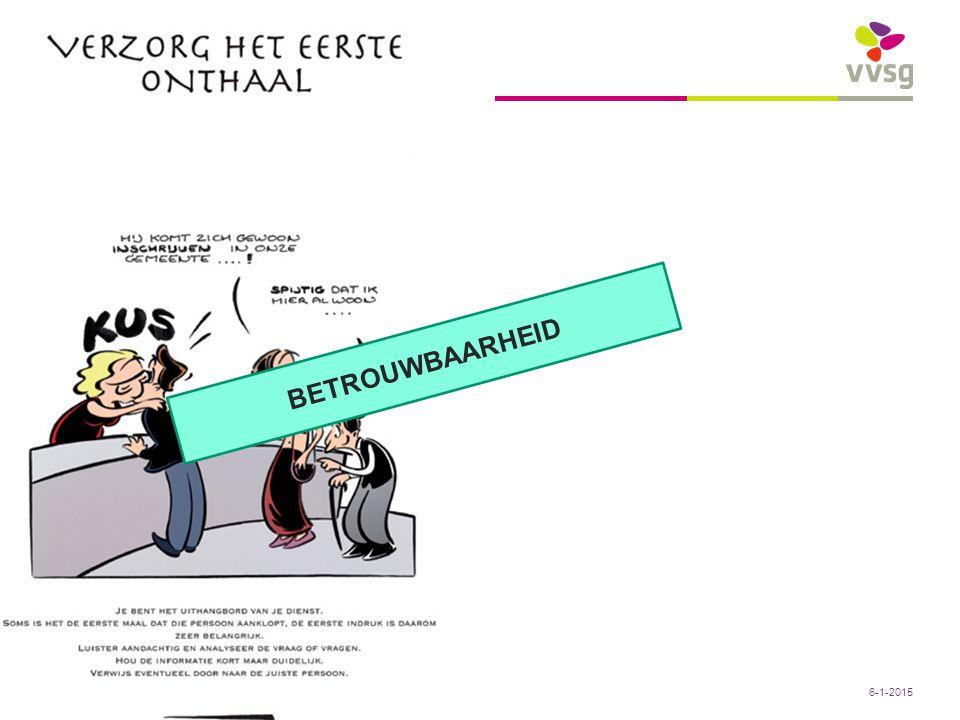Conclusies: BETROUWBAARHEID