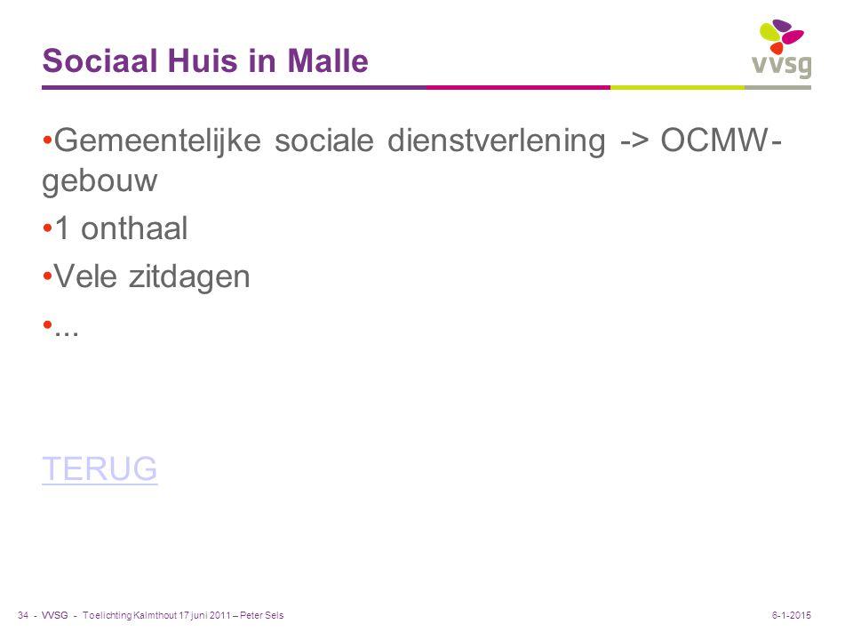 Gemeentelijke sociale dienstverlening -> OCMW- gebouw 1 onthaal