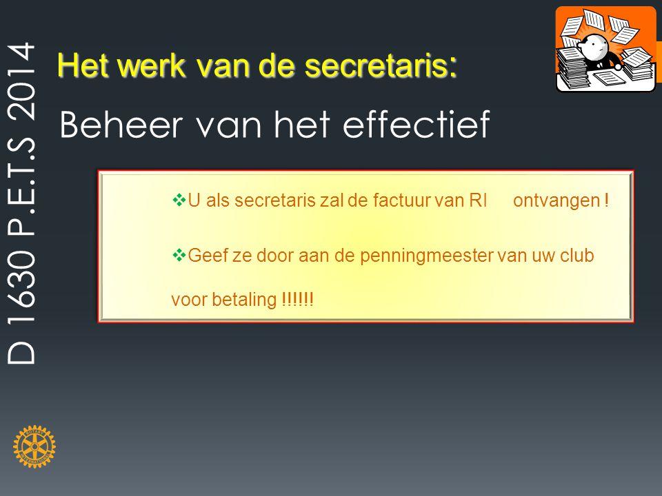 Het werk van de secretaris: