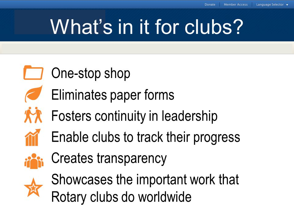 What's in it for clubs
