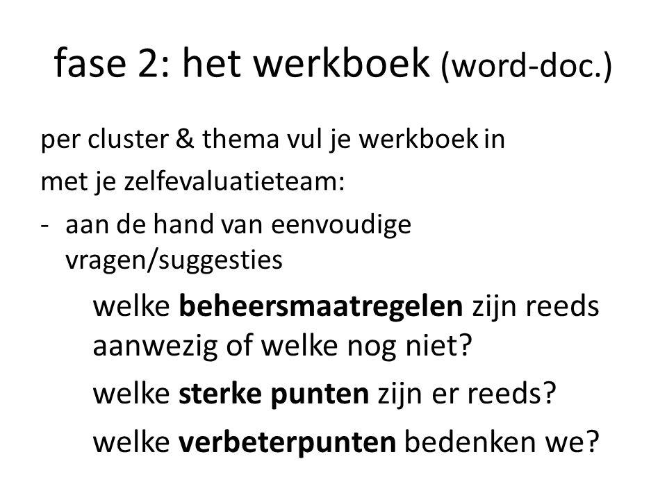 fase 2: het werkboek (word-doc.)