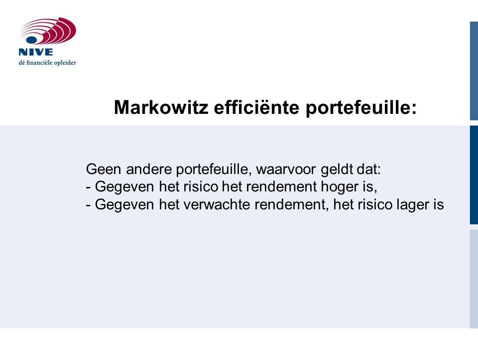Markowitz efficiënte portefeuille: