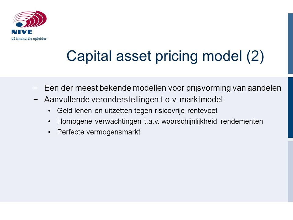 Capital asset pricing model (2)