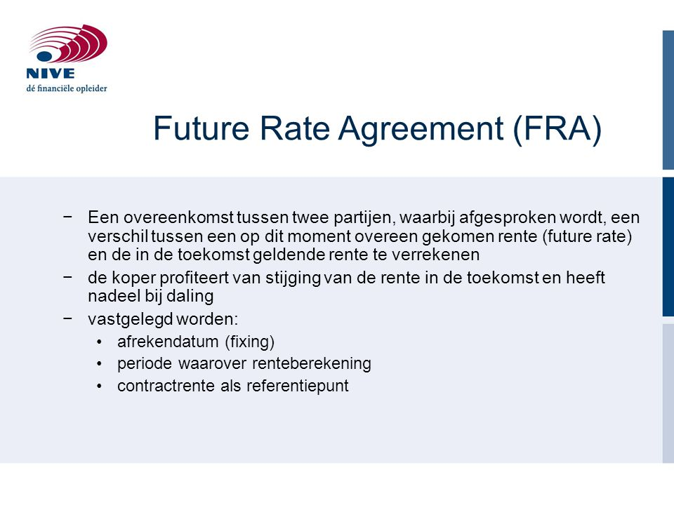 Future Rate Agreement (FRA)