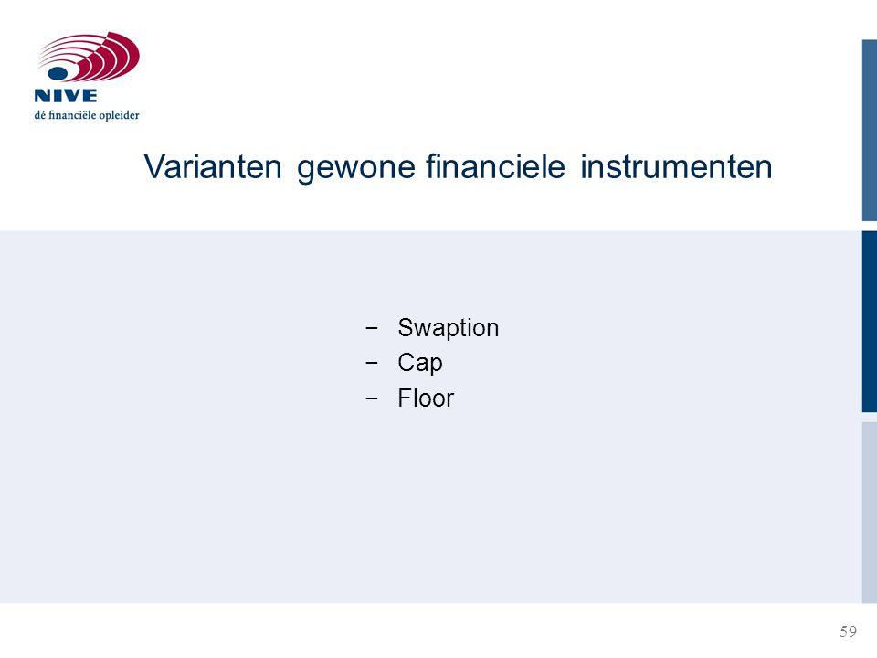Varianten gewone financiele instrumenten