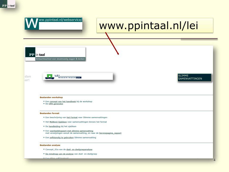 www.ppintaal.nl/lei