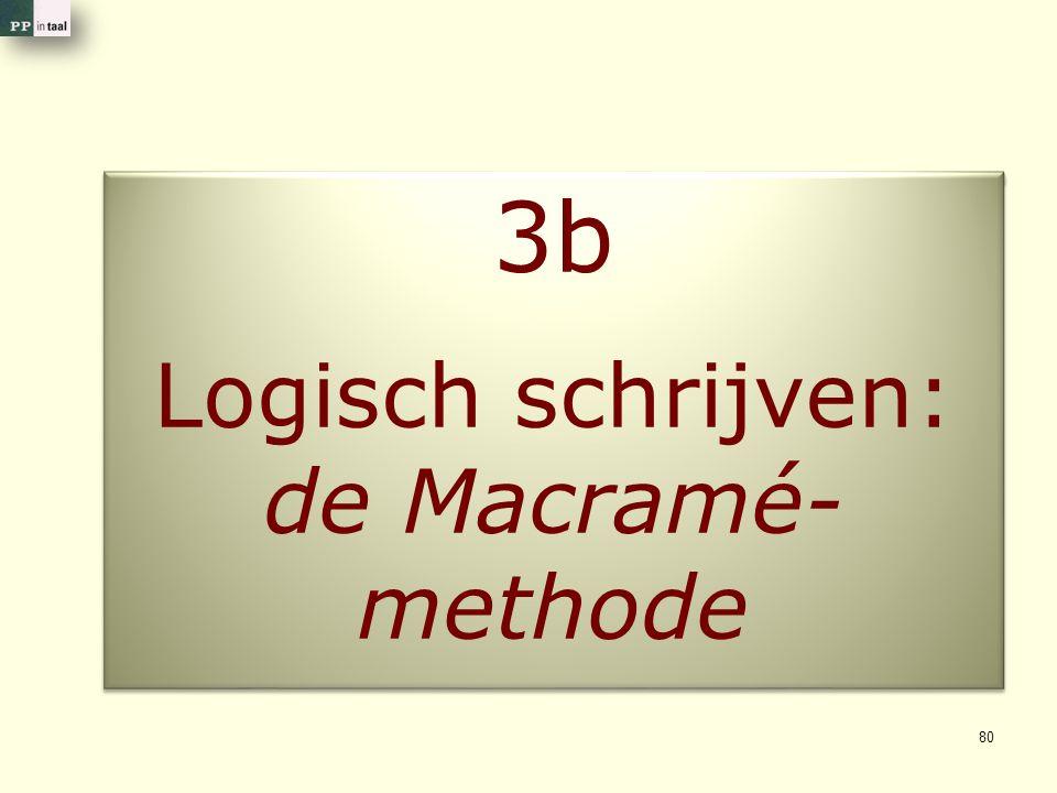 Logisch schrijven: de Macramé- methode