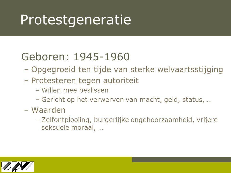 Protestgeneratie Geboren: 1945-1960