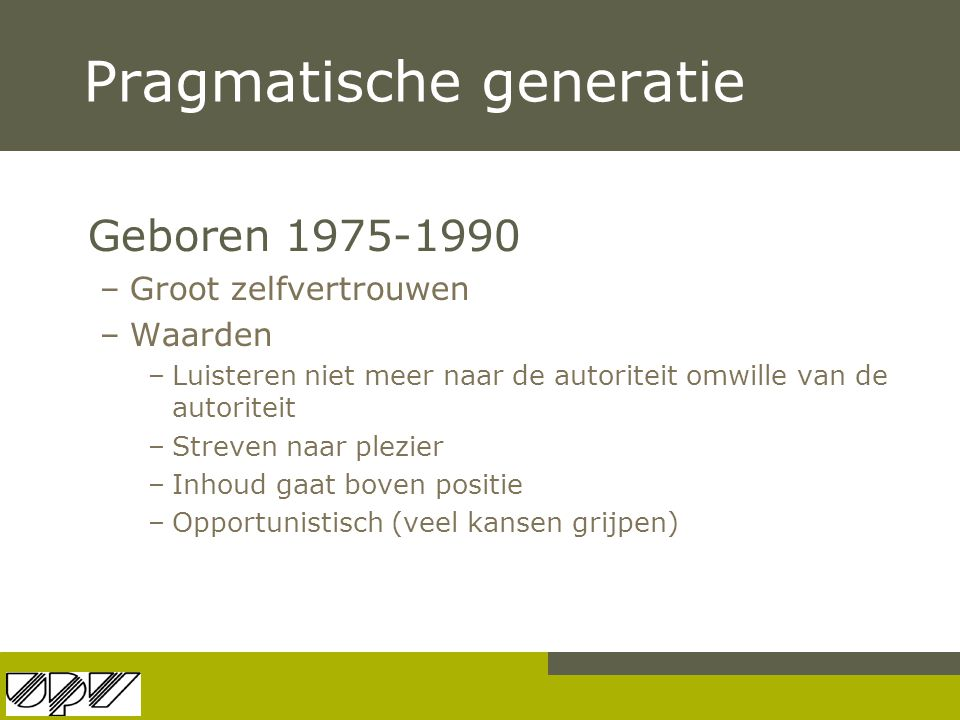 Pragmatische generatie