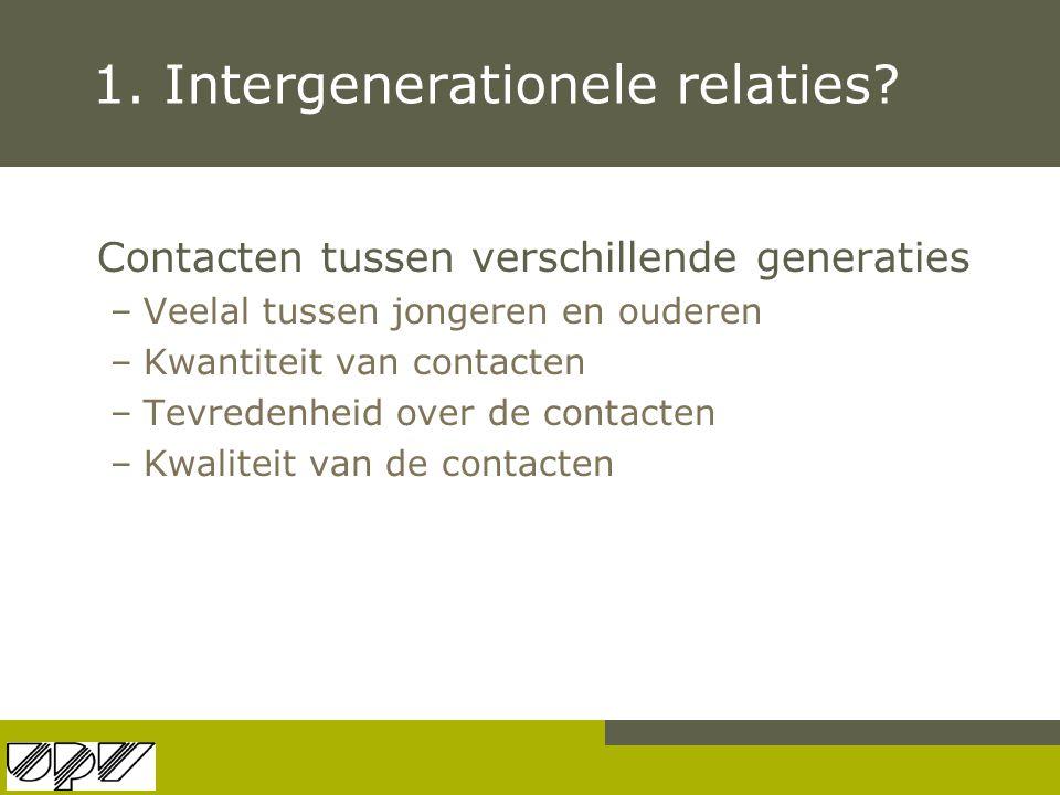 1. Intergenerationele relaties