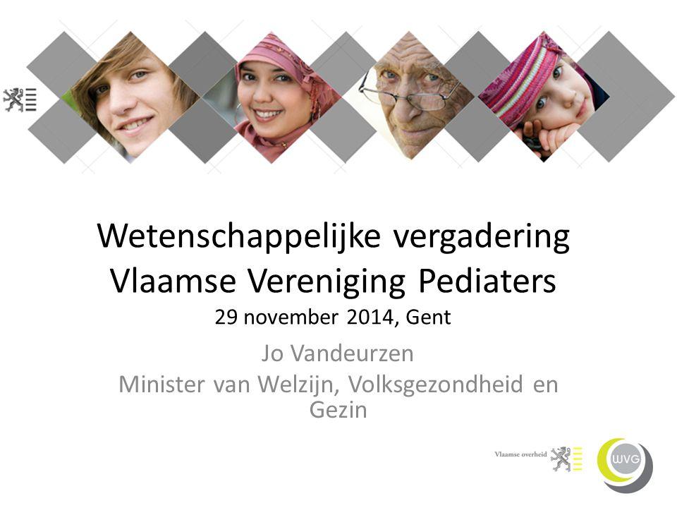 Jo Vandeurzen Minister van Welzijn, Volksgezondheid en Gezin