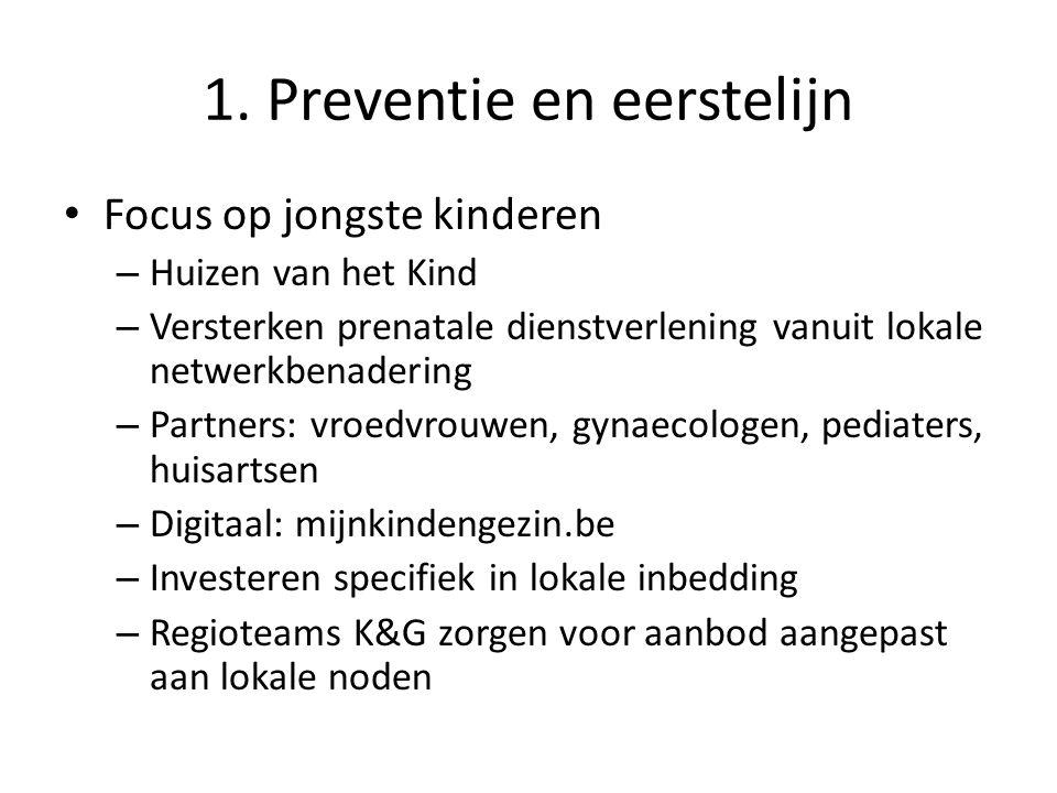 1. Preventie en eerstelijn