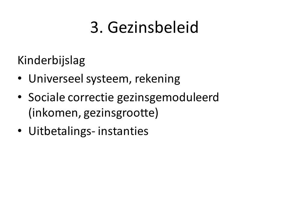 3. Gezinsbeleid Kinderbijslag Universeel systeem, rekening