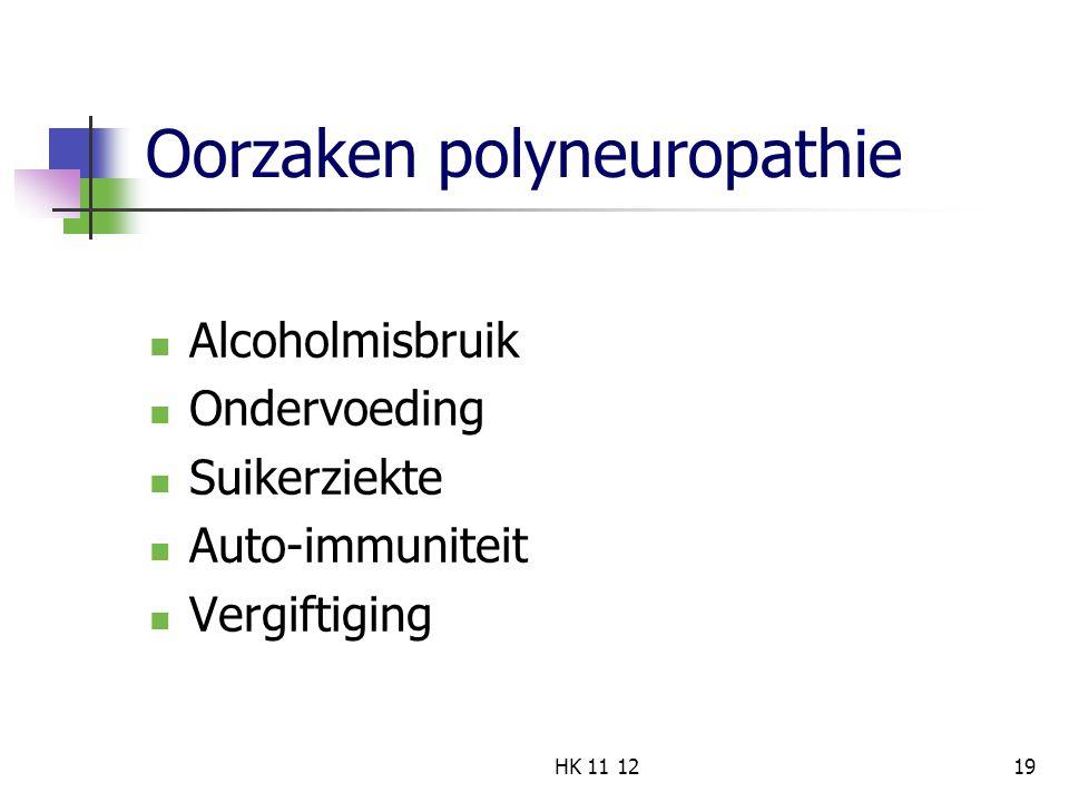 Oorzaken polyneuropathie