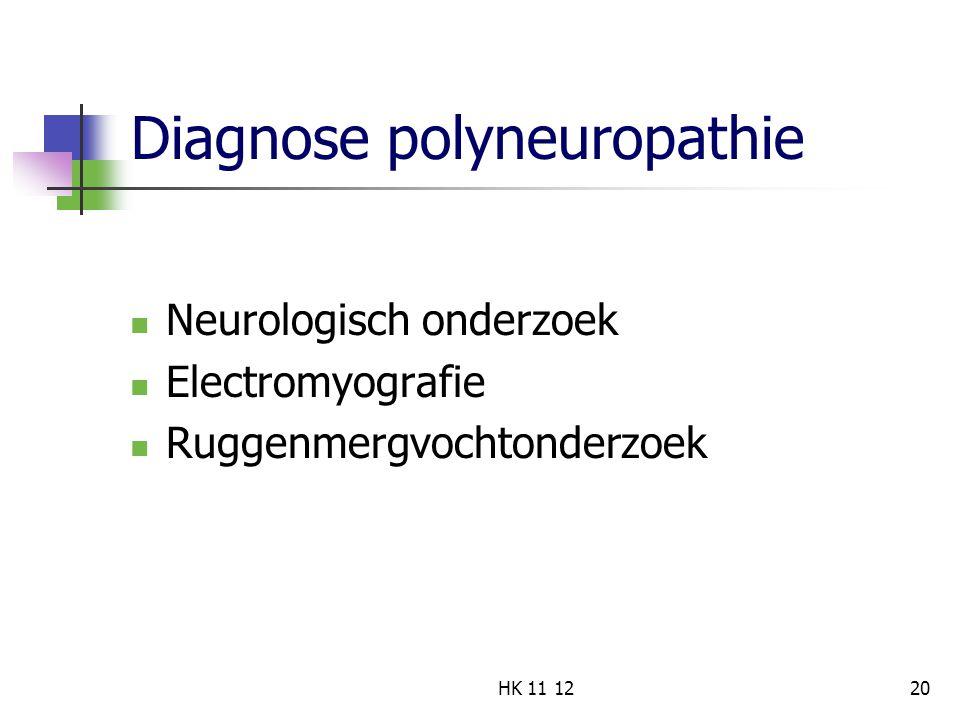 Diagnose polyneuropathie
